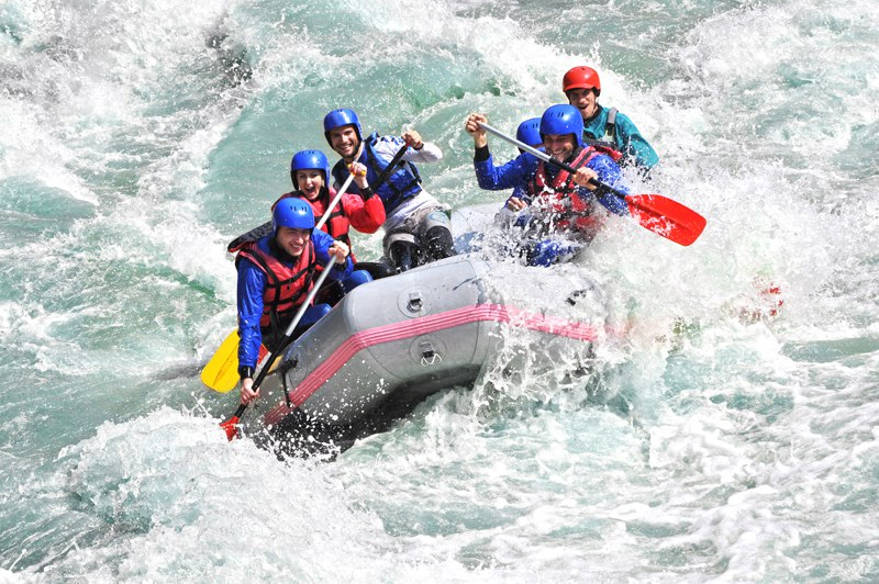 White water rafting in Bulgaria,