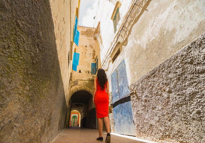 exploring the streets of the Medina Essaouira