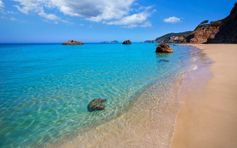 Beach in Ibiza Spain