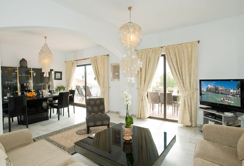 Inside a well-equipped Puerto Banus apartment