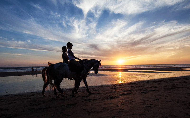 Horse-riding on the beach, Cape Verde