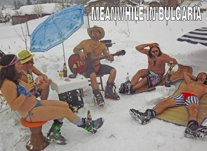 Bulgarians in the snow