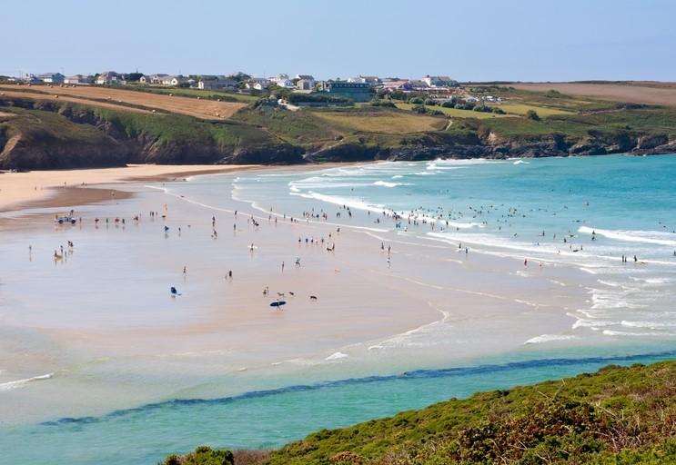 Crantock Beach in Cornwall