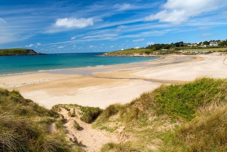 Daymer Beach in Cornwall