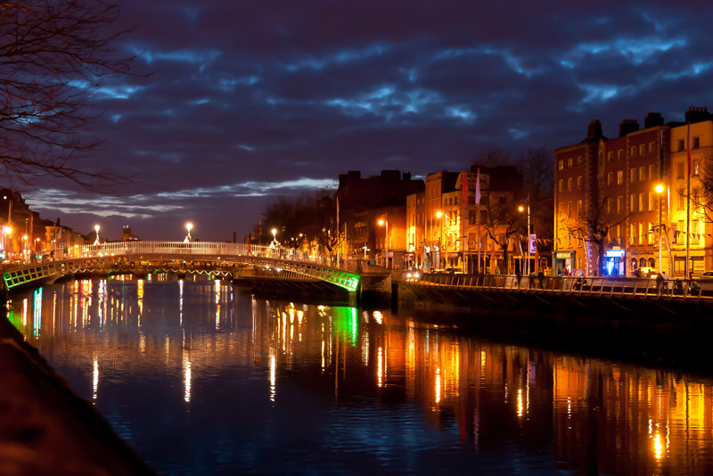 Dublin Nighttime Bridge