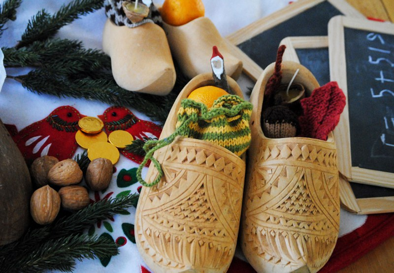 The French traditional shoes at Christmas.