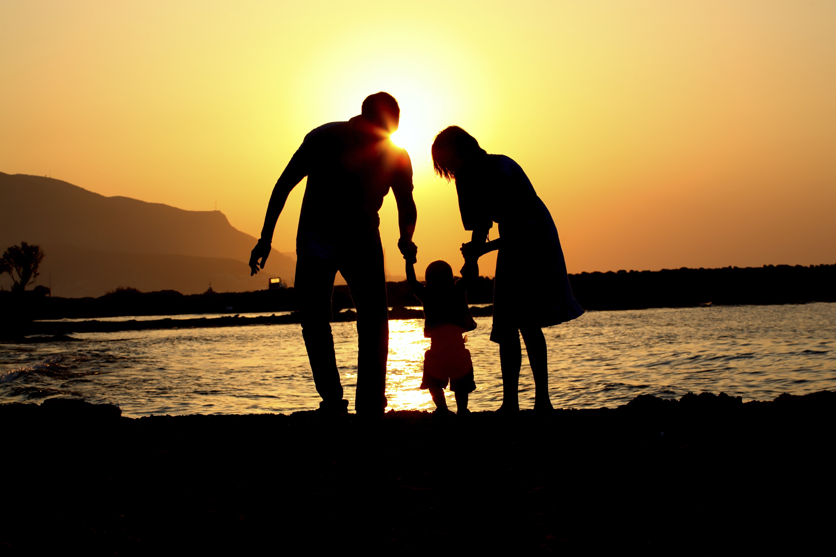 sunset with family