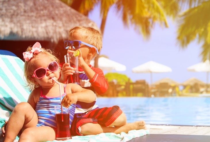 Kids on holiday