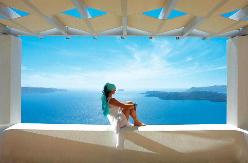 Santorini sea views
