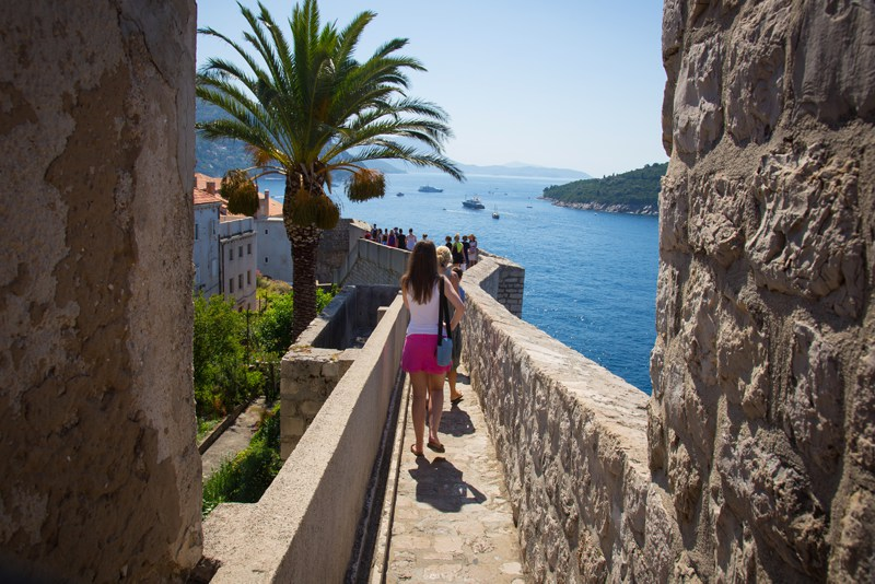 Dubrovnik old city walls walk
