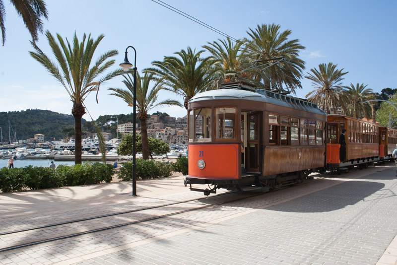 old train to Port Soller in Majorca