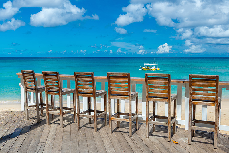 oceanfront bar in barbados