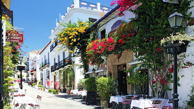 Stylish street in Marbella