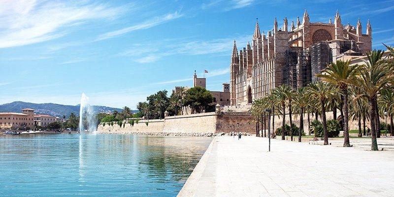 One of the small beaches near the centre of Palma de Majorca