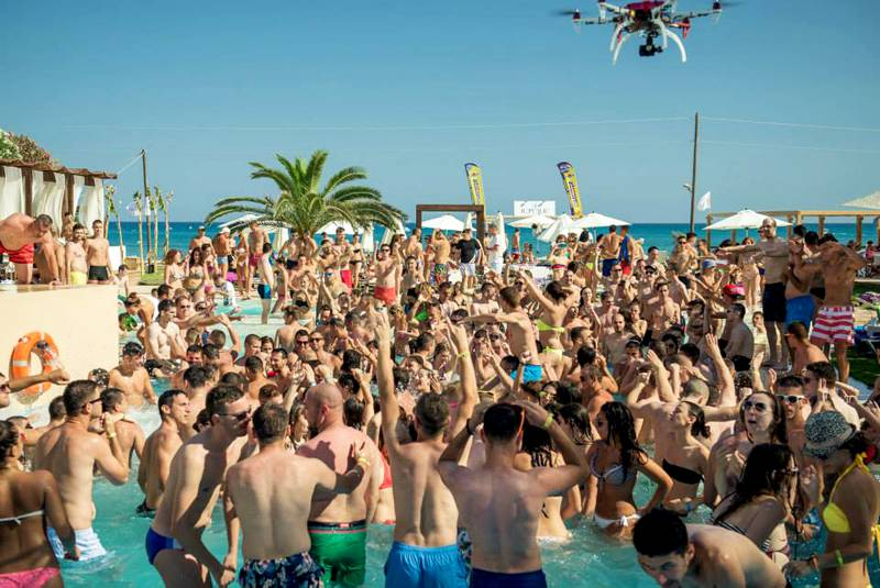 Beach party in Zante