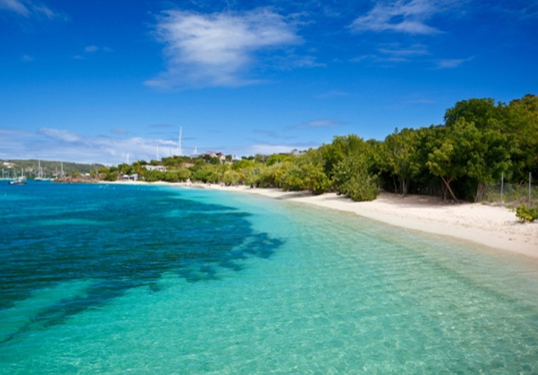 Pigeon Point Beach in Antigua and Barbuda