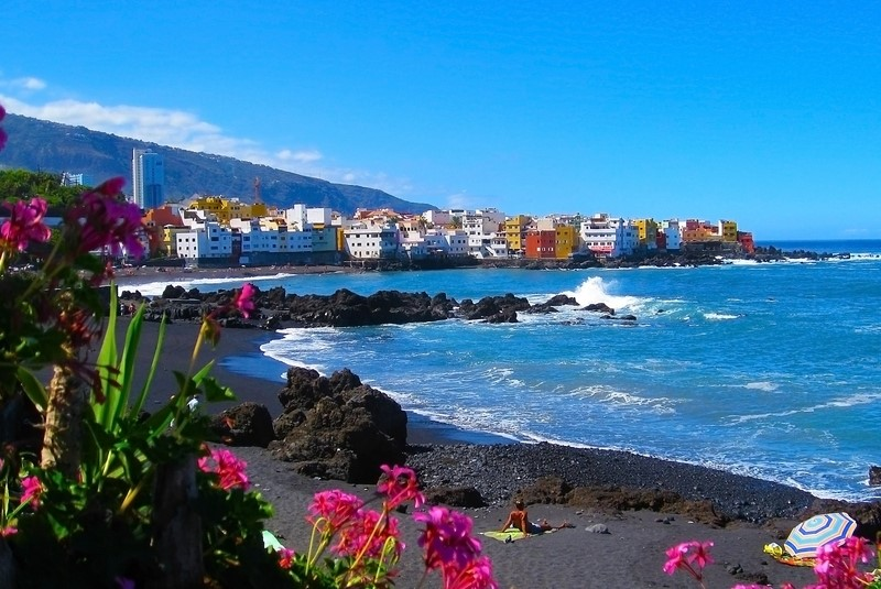 Playa Jardin near Puerto de la Cruz in North Tenerife