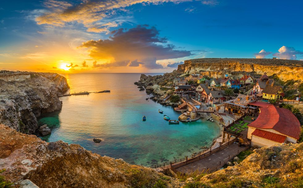 View of Popeye Village, Malta