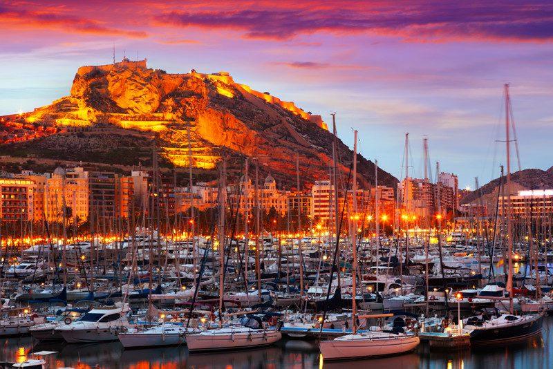 alicante-port-sunset