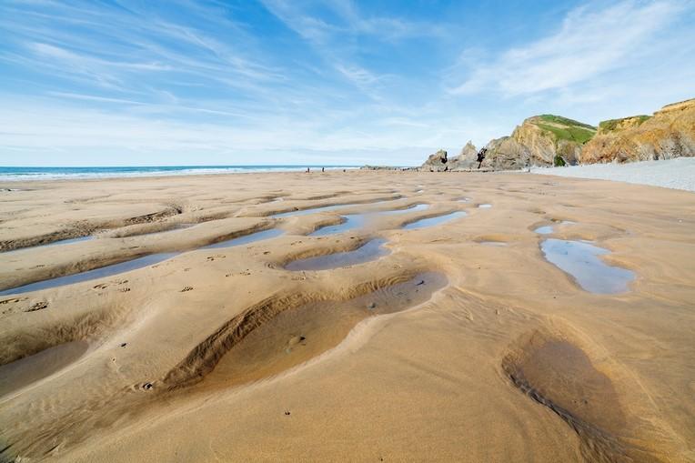 Sandymouth Beach in Cornwall