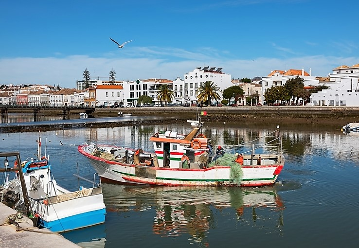 Fishing boat in Tavira, Portugal