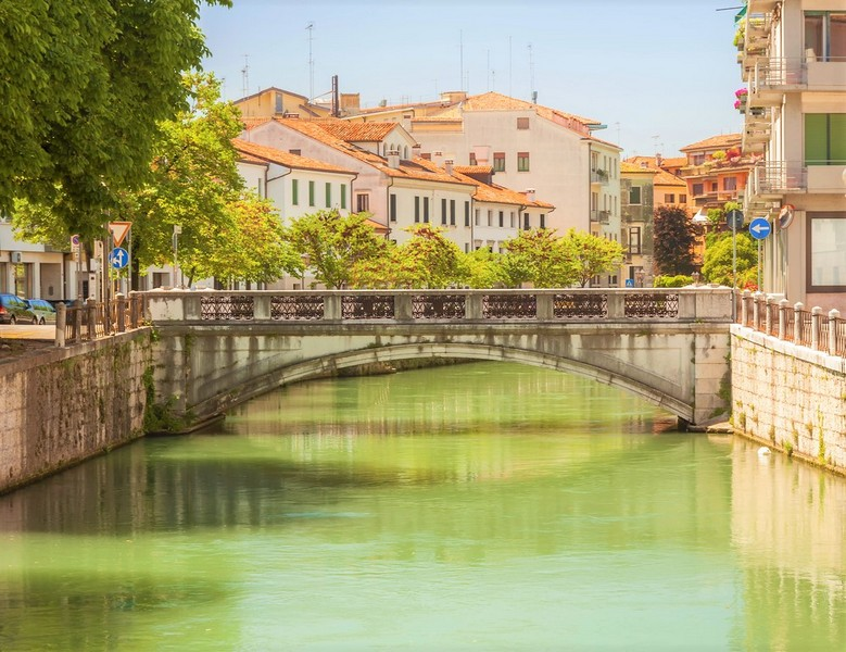 Bridge river in Treviso