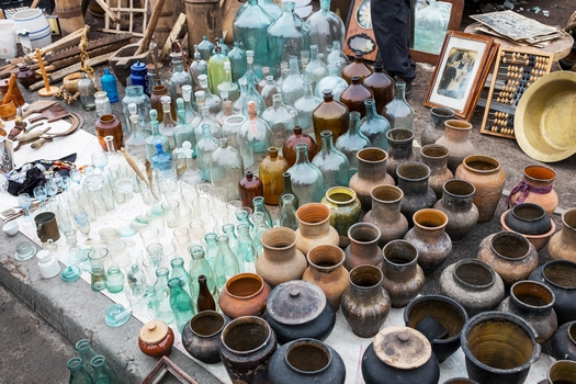 Flea market in Kiev, Ukraine