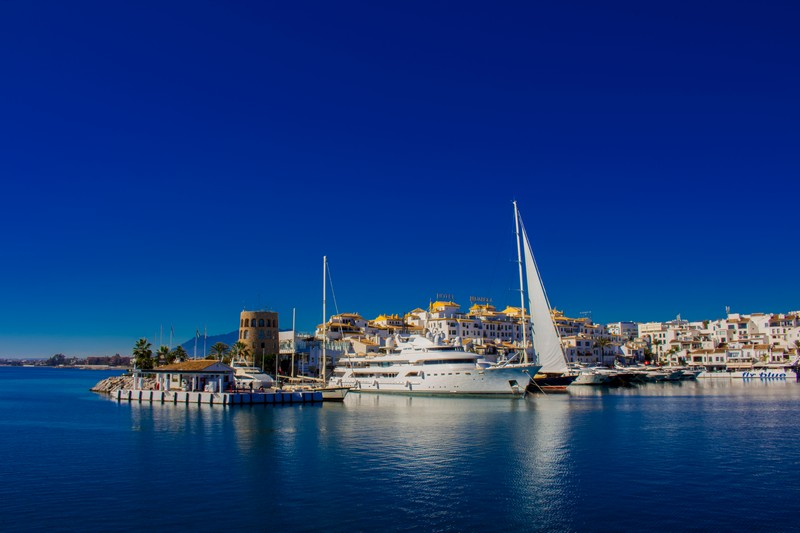 Super-yachts in the harbour at Puerto Banus
