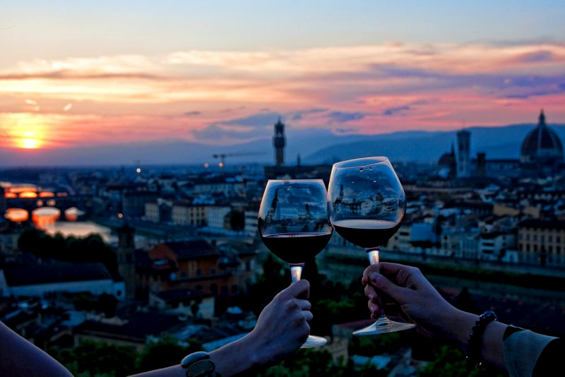 drinks with a view in florence