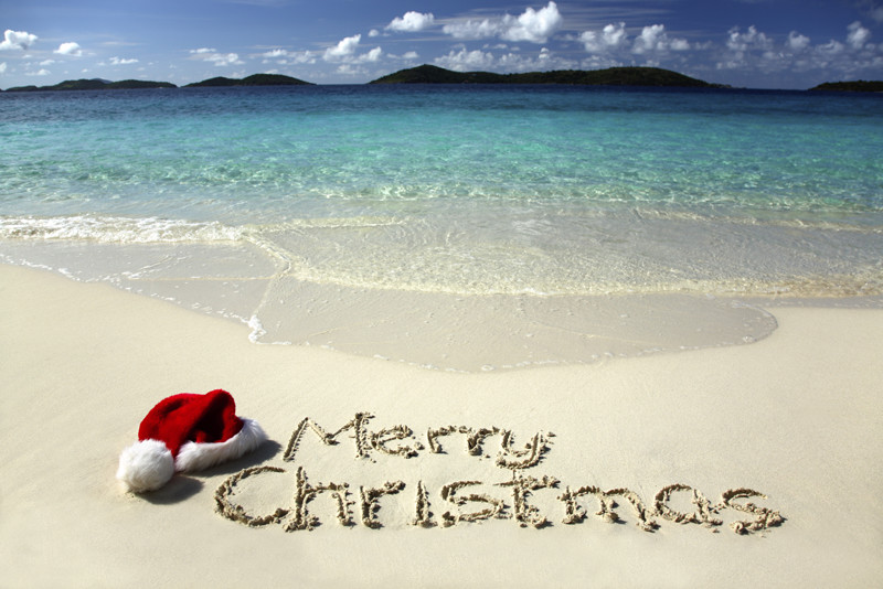 Merry Christmas Beach