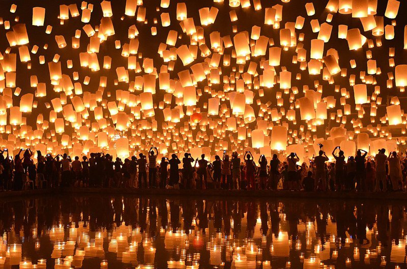 Yi Peng Festival in Thailand
