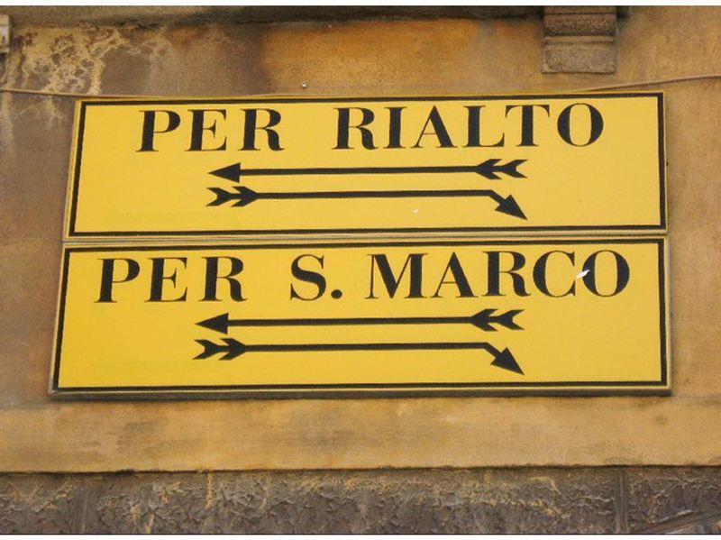 Venice signs rialto san marco