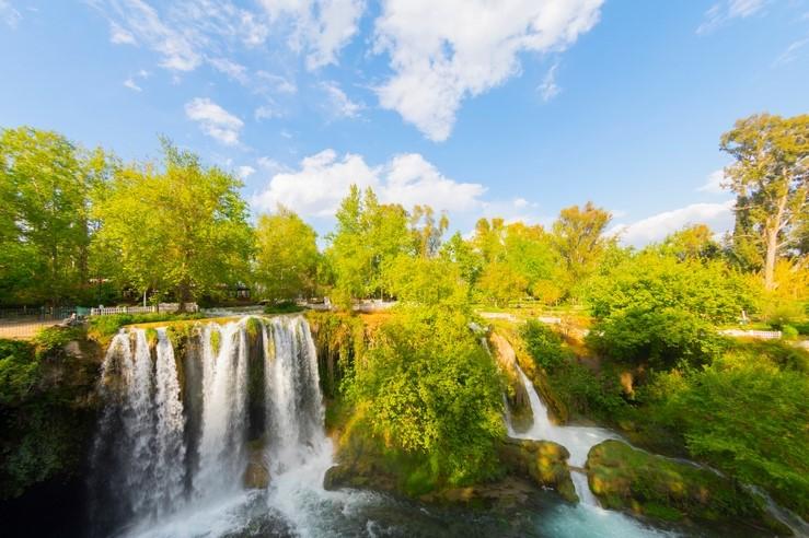 Upper Duden Waterfall in Antalya