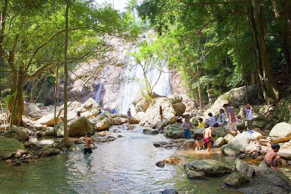 waterfalls in Koh Samui