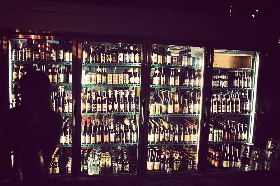 Redlight Beer Parlour, beer fridges
