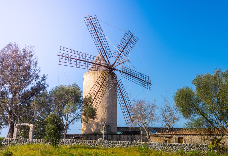 Windmill countryside Mallorca