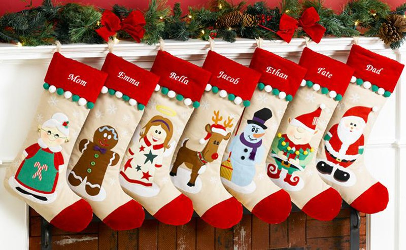American Christmas Stockings with names
