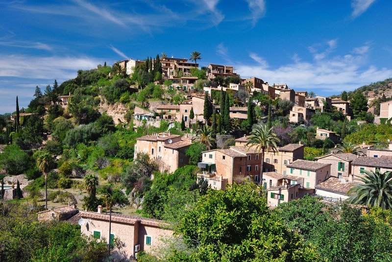 Mountain village of Deia in north west Majorca
