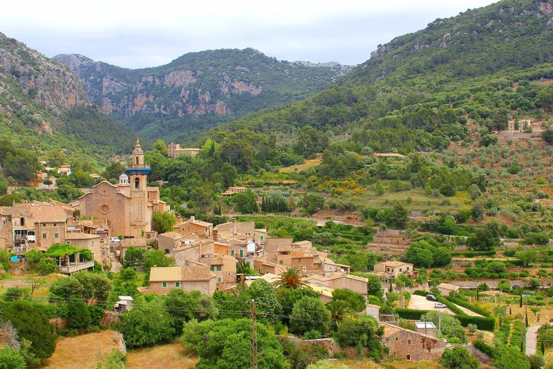 Village of Valldemossa on the north western coast of Majorca