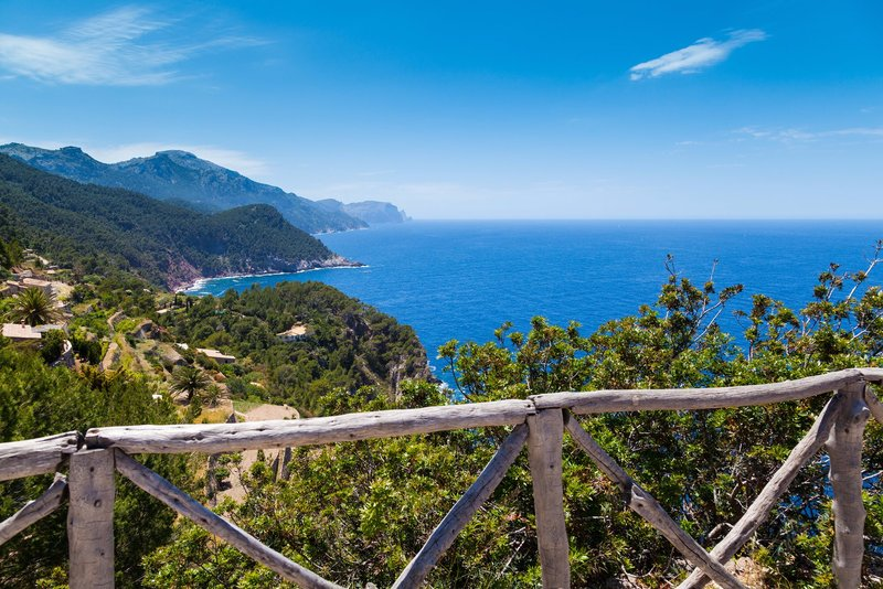 Tramuntana mountain range in the north coast of Majorca