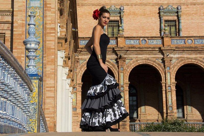 Flamenco dancer in Plaza de Espana, Seville - Andalucia