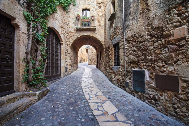 Passageway in the Old Town in Pals, Girona - Costa Brava