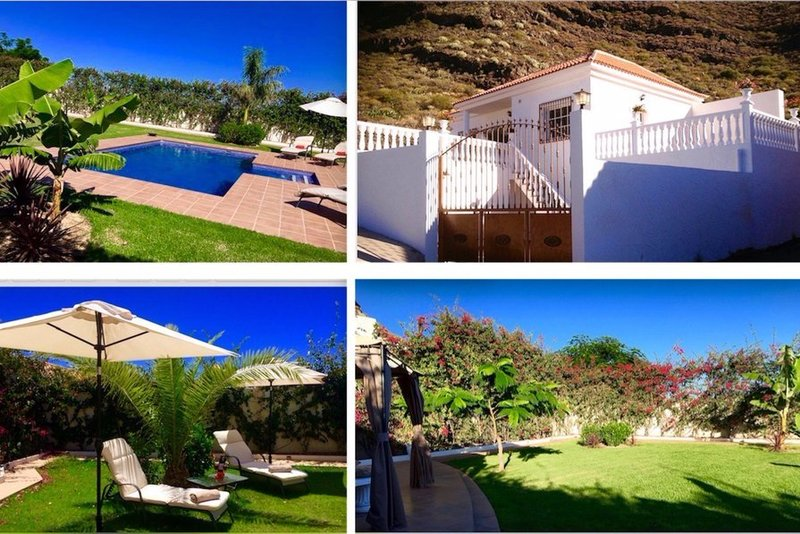 Quiet 2 bedroom villa in Candelaria, South Tenerife, with private pool. Stunning views!
