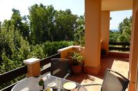 Penthouse_apartment in Spain, Carib Playa: Balcony views towards the park and beach as you dine