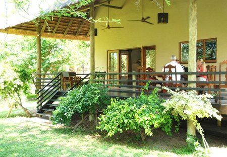 House in Limpopo province, South Africa: Vernda left side with dining table and chairs