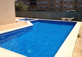 Luxury flat in Playa den Bossa with 4 rooms,air con,pool