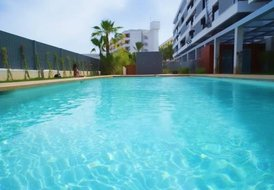 Luxury flat in Marina Botafoch with air con,pool,3 rooms