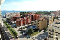 Apartment in Bulgaria, Pomorie: View from balcony. Sea in the distance