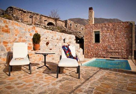 Villa in sfakia, Crete: swimmig poll