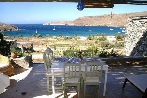Villa in Greece, Serifos: balcony and view to aegean